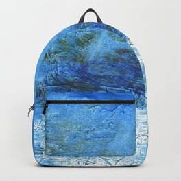 Corn flower blue colorful watercolor pattern Backpack