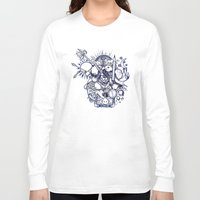doodle Long Sleeve T-shirts featuring Doodle by Puddingshades