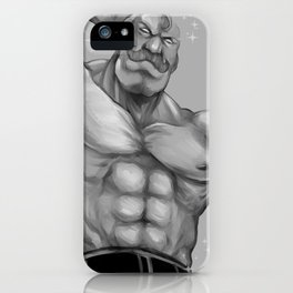 Major Alex Louis Armstrong - Black and White iPhone Case