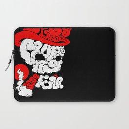 smoking skull Laptop Sleeve