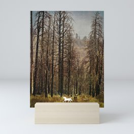 Burnt Trees Mini Art Print