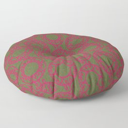 Scrolled Ringed Ikat – Pesto Jazzy Floor Pillow