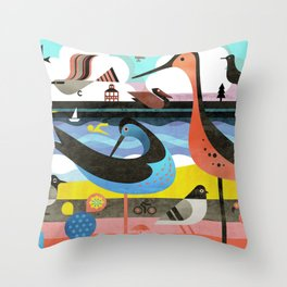 OBX Throw Pillow