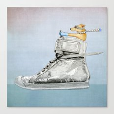 Dog Driving a Shoe Canvas Print