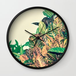 Costa Rican Foliage Wall Clock