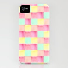 Watercolor square pattern iPhone (4, 4s) Slim Case