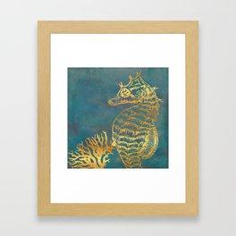 Deep Sea Life Seahorse Framed Art Print