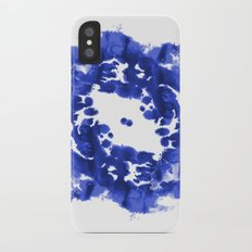 Blue Circle abstract painting enso minimal modern home office dorm college decor iPhone X Slim Case