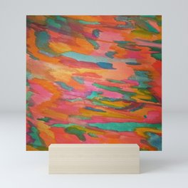 Rainbow Sherbet Abstract Painting Mini Art Print