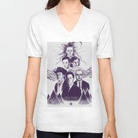 twin peaks V-neck T-shirts featuring Twin Peaks by Young Napoleon