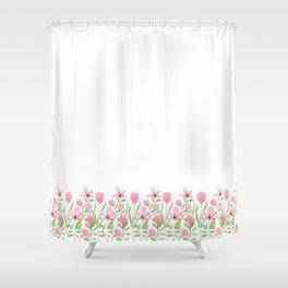 Blush pink blossom Shower Curtain