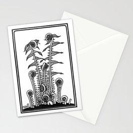 Ferns - 1920s Block Print Stationery Cards