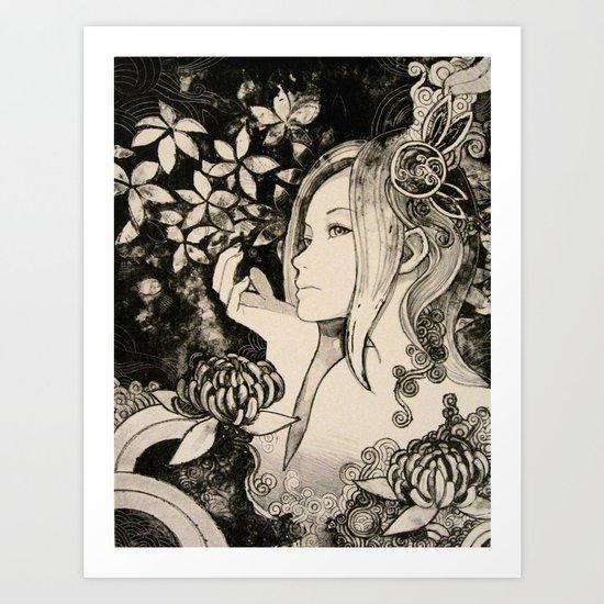 Purity of Chrysanthemum Art Print
