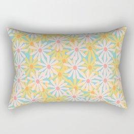 Retro Sunny Floral Pattern Rectangular Pillow