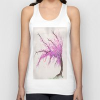 cherry blossom Tank Tops featuring Cherry Blossom by Shua Kreger