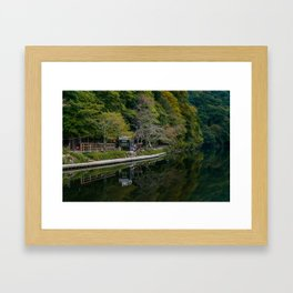 Arashiyama Waterscape Framed Art Print