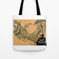 inner demons Tote Bags featuring Inner Demons by Nash Gottfried
