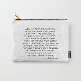What is my Perfect Crime Office Dwight Quotes Carry-All Pouch