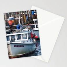 New England Fishing Wharf Stationery Cards