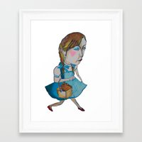 shopping Framed Art Prints featuring shopping by mayubonne