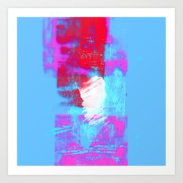 abstract blue pink Art Print