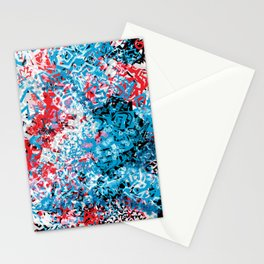 Demonic Toy Poodle Abstract Stationery Cards
