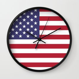 USA flag - Hi Def Authentic color & scale image Wall Clock