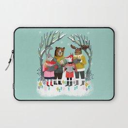 Woodland Christmas Carols by Andrea Lauren  Laptop Sleeve