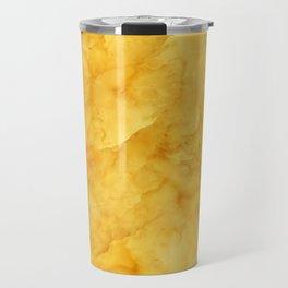 Golden amber texture Travel Mug