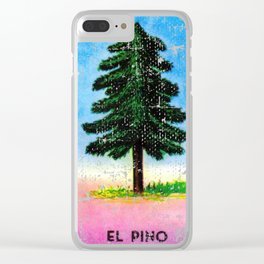 El Pino Mexican Loteria Bingo Card Clear iPhone Case