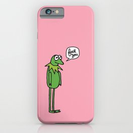 A Frog's mood iPhone Case