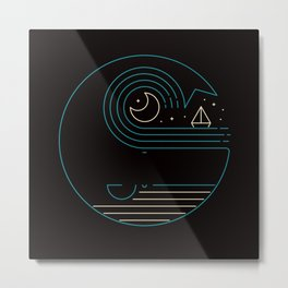 Moonlight Companions Metal Print