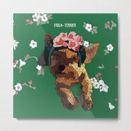 Frida-Terrier dog Metal Print