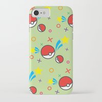 pokeball iPhone & iPod Cases featuring Pokeball pattern by Sierra