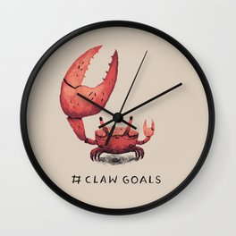 claw goals Wall Clock