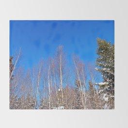 Leafless in Winter Throw Blanket