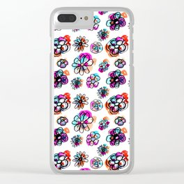 colorful fall floral Clear iPhone Case