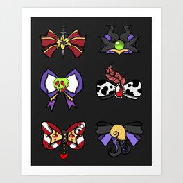 Villains Bows Art Print