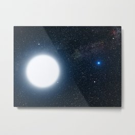 Hubble Space Telescope - An artist's impression of Sirius A and B (2005) Metal Print