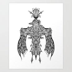 Crowned Messenger Art Print