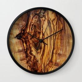 olive tree wood Wall Clock