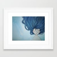 the little mermaid Framed Art Prints featuring Little Mermaid by Grazia Vincoletto