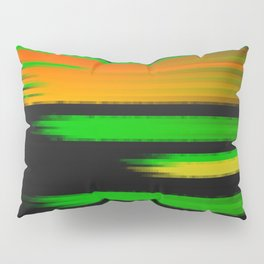 Abstract lines green Pillow Sham
