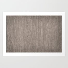 Modern Brown Wood Art Print