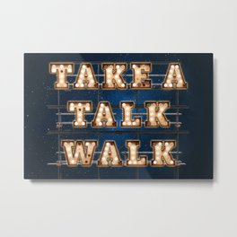 Take a Talk Walk - Wall-Art for Hotel-Rooms Metal Print