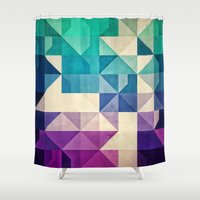 spires Shower Curtains featuring pyrply by Spires