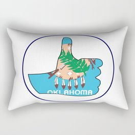Thumbs Up Oklahoma Rectangular Pillow