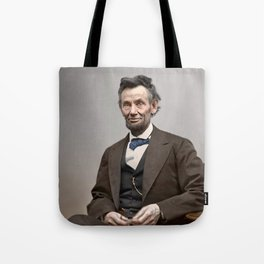Abraham Lincoln Painting Tote Bag