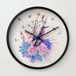 FLORAL  ALCEDO ATTHIS Wall Clock