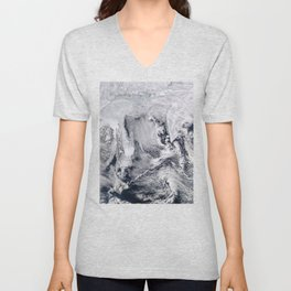 Sea Ice, Clouds in the Sea of Okhotsk Unisex V-Neck